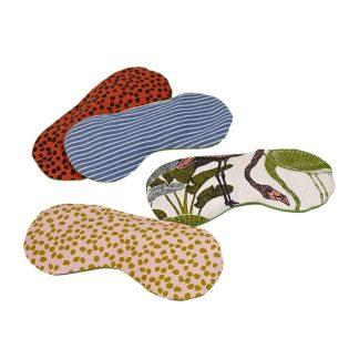 Lavendel-Augenkissen in verschiedenen Farben und Mustern zum Entspannen